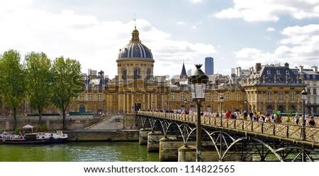 Pont des Arts in Paris, France - stock photo