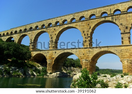 Pont du Guard, Provence, France, Europe - stock photo