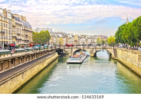 Pont Neuf and the Seine river, Paris, France - stock photo