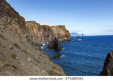 Ponta de Sao Lourenco, the eastern part of Madeira Island, Portugal.  - stock photo