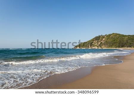 Ponta Do Auro Beach in Mozambique - stock photo