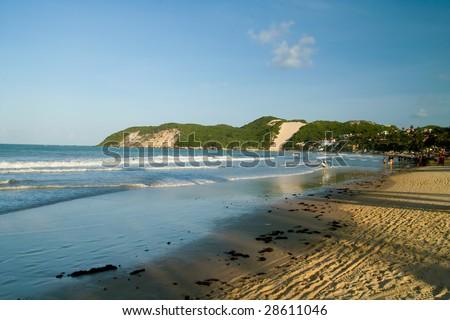 Ponta Negra beach Natal Rio Grande do Norte state Brazil South America - stock photo