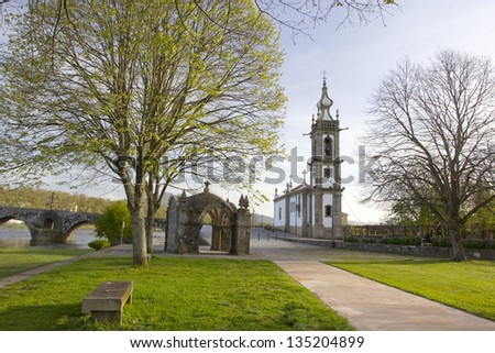 Ponte de Lima, Church, Portugal - stock photo