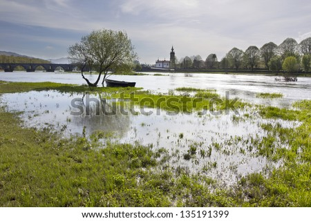 Ponte de Lima _ Green Landscape - stock photo