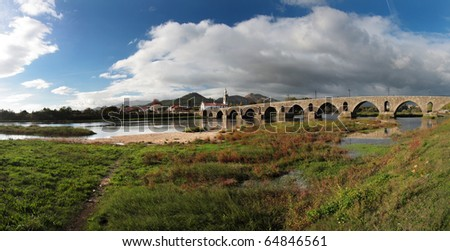 Ponte de Lima _ Panoramic Landscape - stock photo