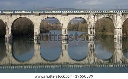 Ponte ferroviario 01 - stock photo