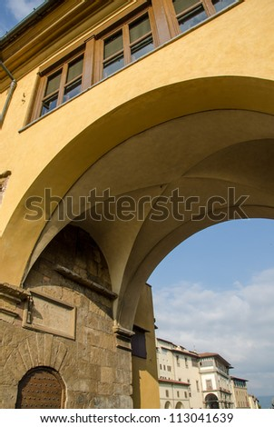 Ponte Vecchio Architectural Detail - Old Bridge in Florence, Italy