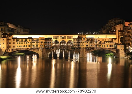 Ponte Vecchio at night, Firenze, Italy