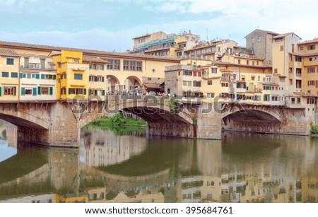 Ponte Vecchio. Florence. - stock photo