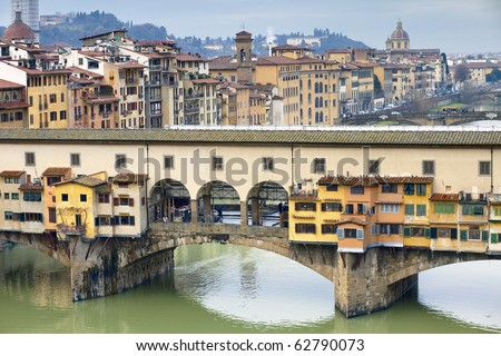 Ponte Vecchio, Florence, Tuscany, Italy - stock photo