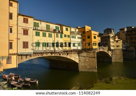 ponte vecchio in florence - stock photo