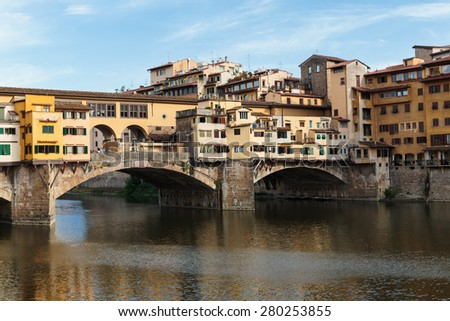 Ponte Vecchio in Florence , Italy