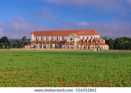 Pontigny Abbey, Burgundy in France