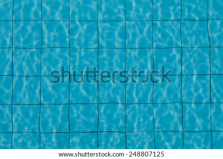 pool and blue - stock photo