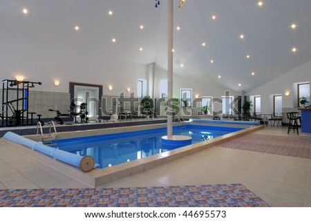 pool and gym - stock photo