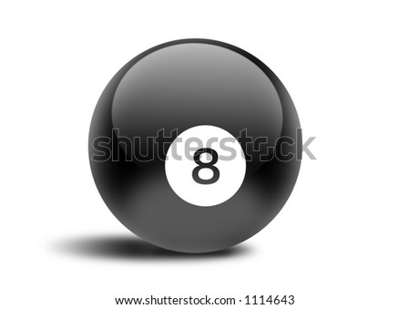 pool ball - stock photo