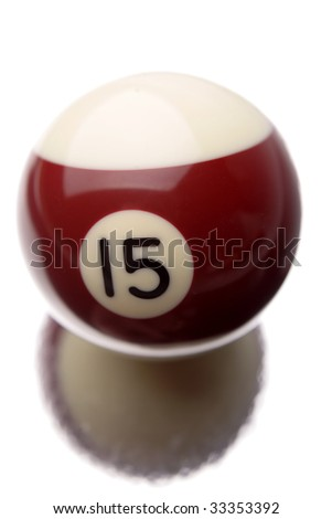 Pool ball isolated over white background