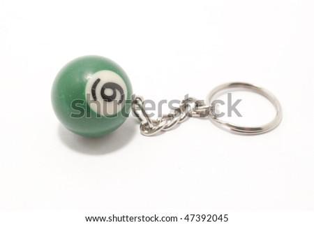 pool ball keyring - stock photo