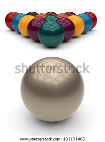 pool balls - stock photo