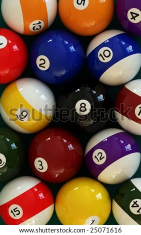 pool balls 001 - stock photo