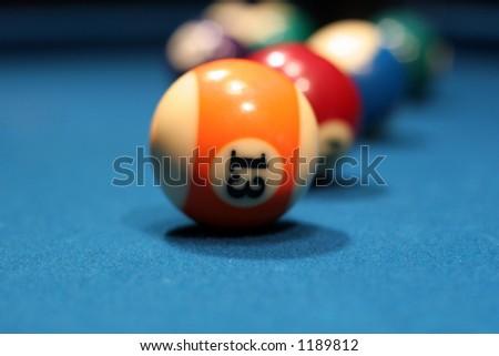 pool balls on table - stock photo