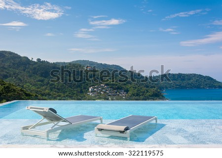 pool bed with great view
