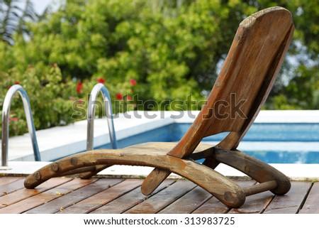 Pool chair - stock photo