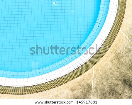 pool from top view - stock photo