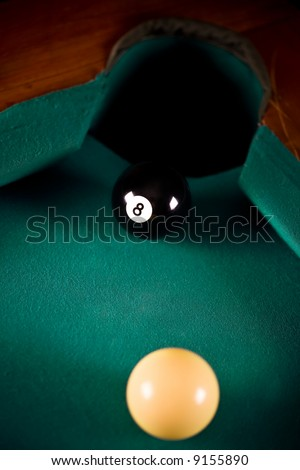 Pool Game - stock photo