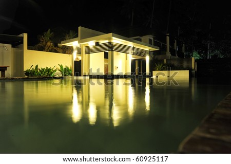 Pool house - stock photo