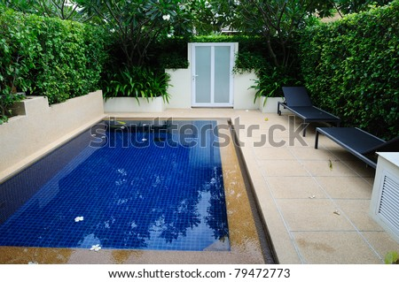 pool in modern house
