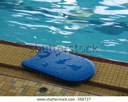 pool kick board - stock photo