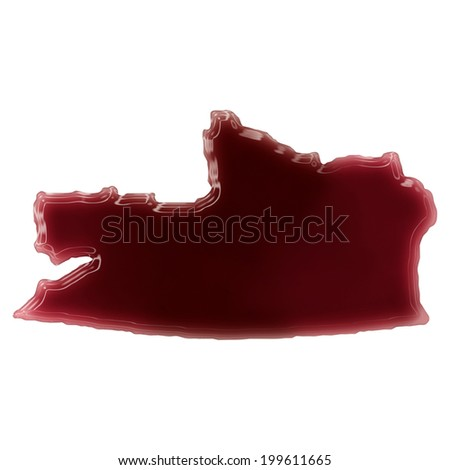 Pool of blood (or wine) that formed the shape of Russian Federation. (series)