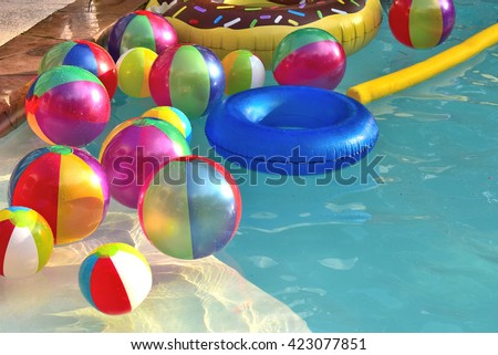 Swimming Pool Beach Ball Background pool party stock images, royalty-free images & vectors | shutterstock