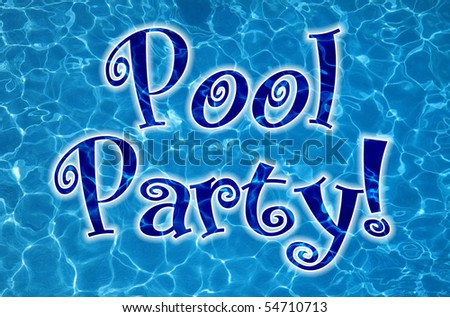 Pool Party concept - stock photo