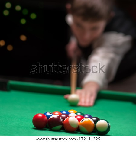 Pool Player - stock photo