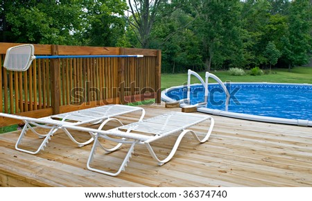 Pool Side Deck - stock photo