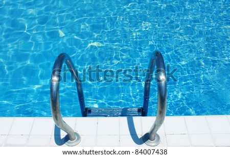 pool stairs. - stock photo