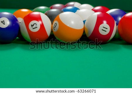 Pool Table With Balls Set Up Gor Beginning