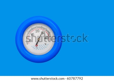 Pool Thermometer Close Up - stock photo