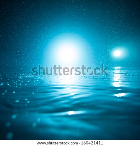 pool under water  - stock photo