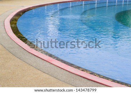 pool water side background