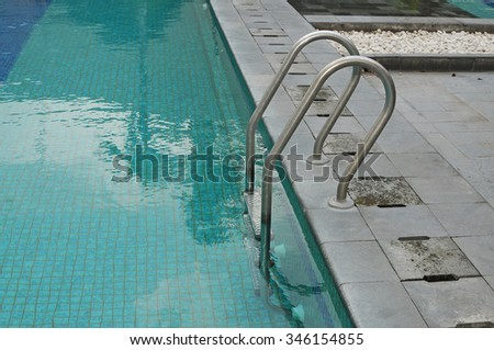 pool with a ladder climb