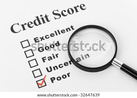 Poor Credit, Business Concept for Background - stock photo