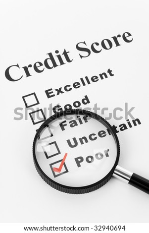 Poor Credit Score, Business Concept for Background - stock photo