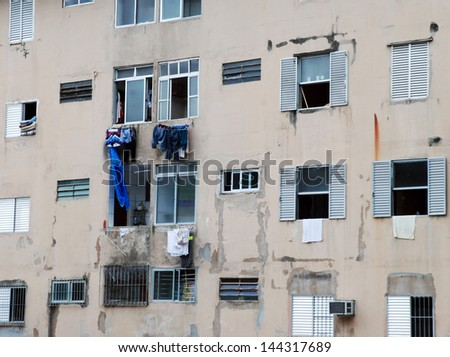 poor houses - stock photo