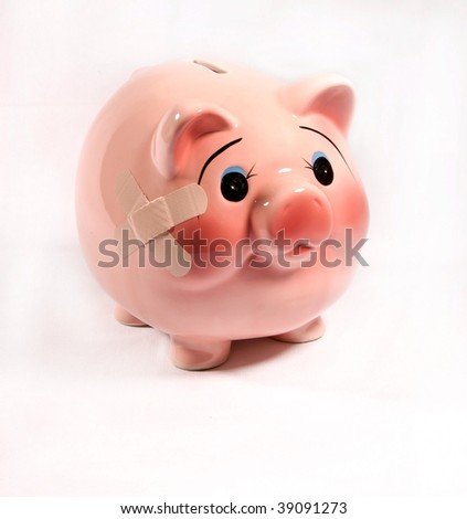poor piggy bank bad economy