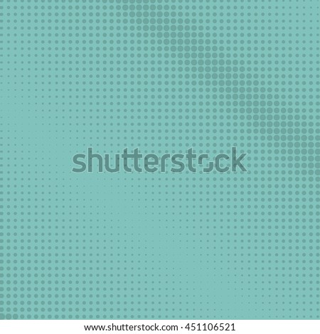 Pop Art Background, Dots on a Light Turquoise Background, Halftone Background, Retro Style