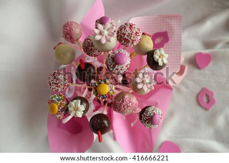 Pop Cakes - Stock Image. - stock photo