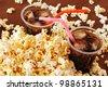 Pop Corn and Cola - stock photo